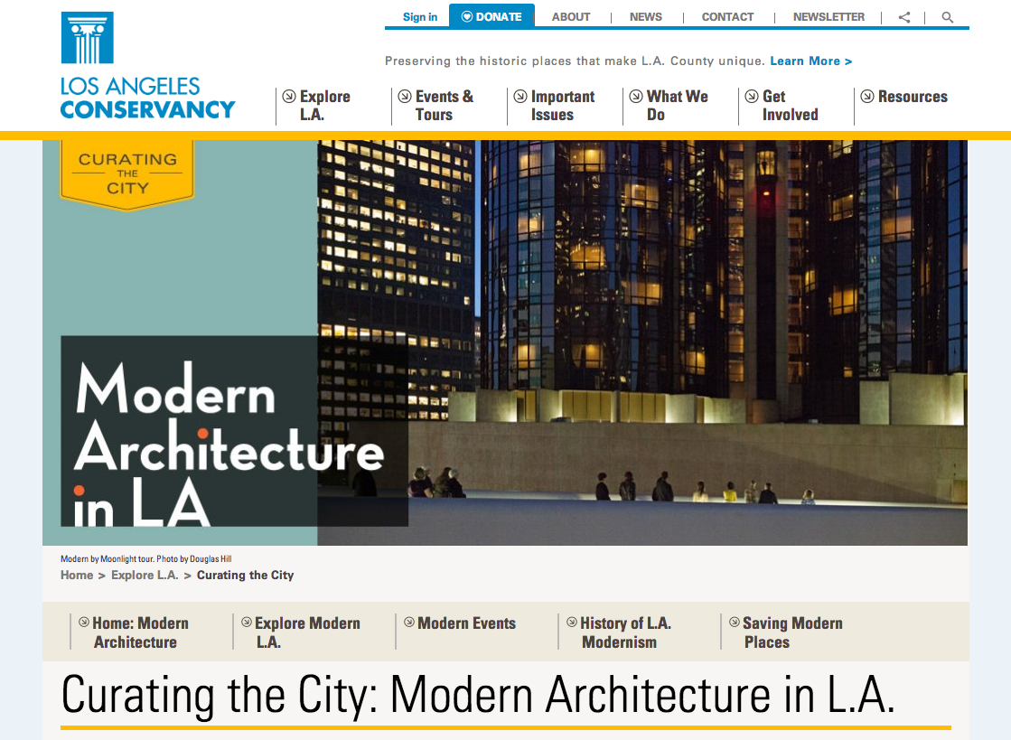 Curating the City homepage