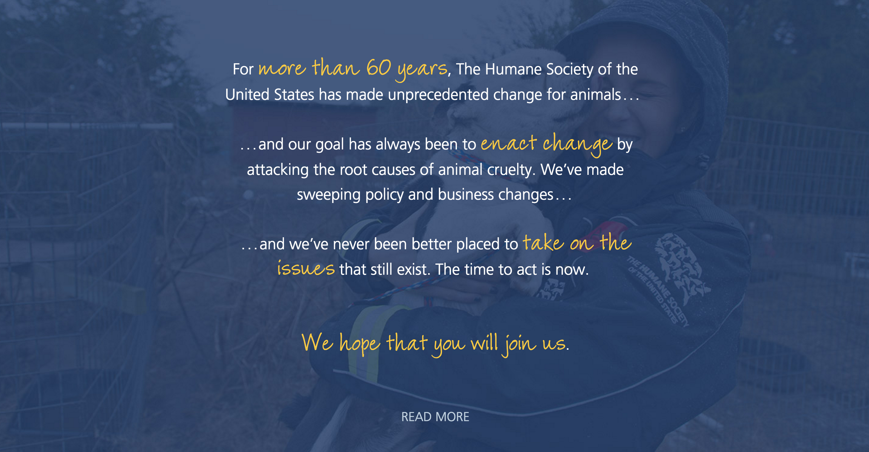Image: HSUS Change for Animals Intro