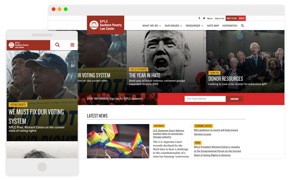 Image: SPLC Desktop and Mobile